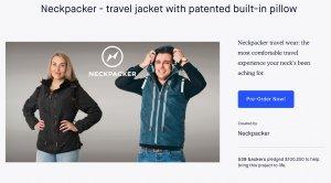 Neckpacker travel jacket
